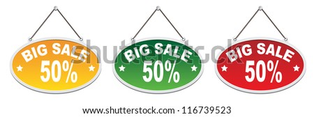 Labels - Big Sale 50% - stock photo