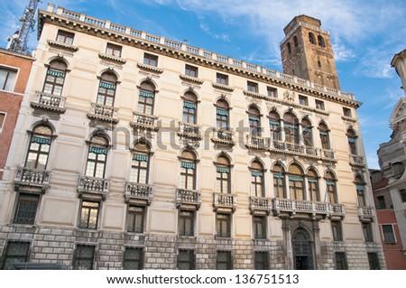 Labia Palace on San Geremia Square at Venice, Italy - stock photo