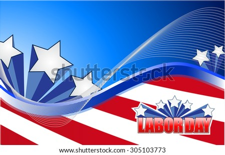 labor day star sign illustration design graphic background - stock photo