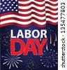 Labor Day Template. jpg - stock photo