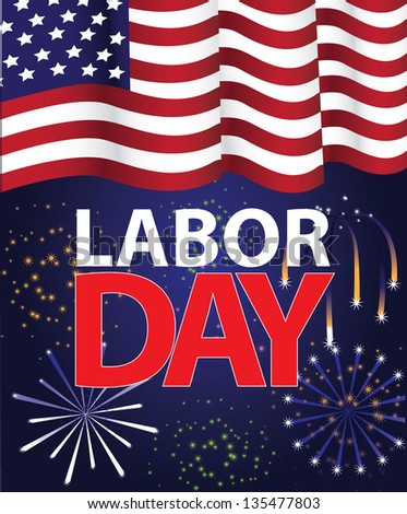 Labor Day Template. jpg - stock photo