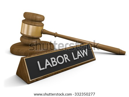 Labor laws and legislation for protecting worker unions - stock photo