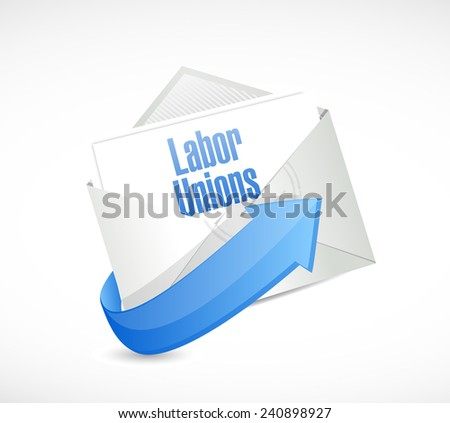labor unions email illustration design over a white background - stock photo