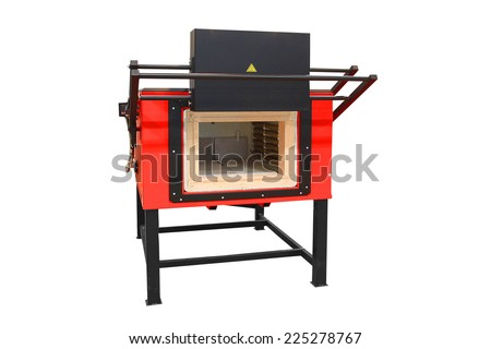 Laboratory furnace for heating steel up to 1000 C - stock photo