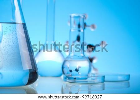 Laboratory glassware, Sterile conditions - stock photo