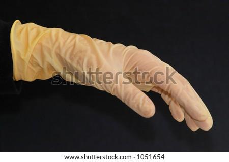 Laboratory glove 2 - stock photo
