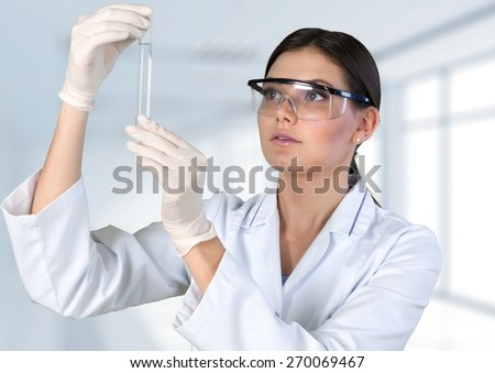 Laboratory. Researcher working with chemicals - stock photo