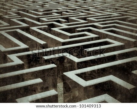 labyrinth - stock photo