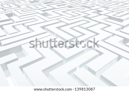 Labyrinth - stock photo