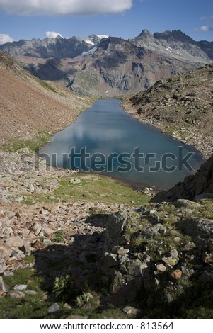 Lac Long (Bionaz, Valpelline, Italy) - stock photo