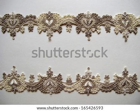 lace background - stock photo