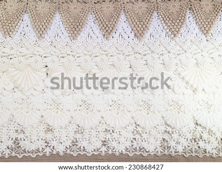 Lace cloth background and texture - stock photo
