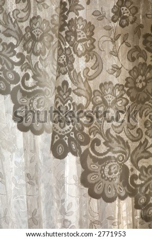 Lace curtain - stock photo