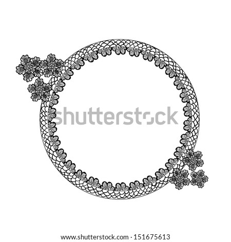 Lace frame - stock photo