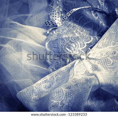 Lace underwear background - stock photo