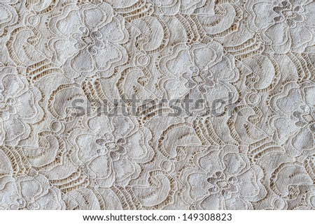 Lace with Flower Pattern, Background - stock photo
