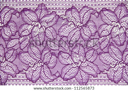 lace work line on white background - stock photo