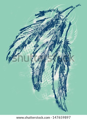 Laced Feathers - stock photo