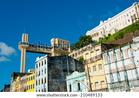 Lacerda Elevator, downtown, Salvador da  Bahia, Brazil - stock photo