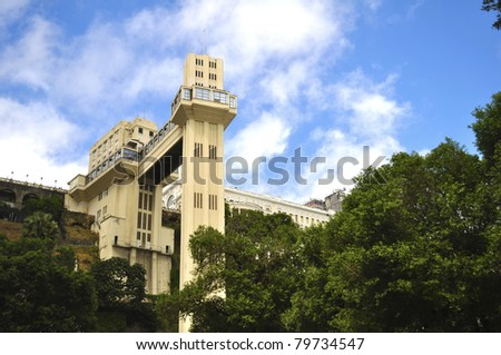 Lacerda elevator - salvador - bahia - Brazil - stock photo