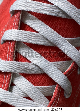 laces footwear - stock photo