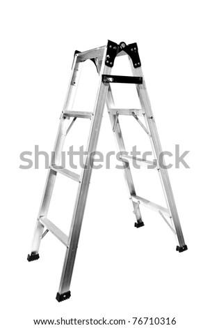 Ladder Isolated on white background - stock photo