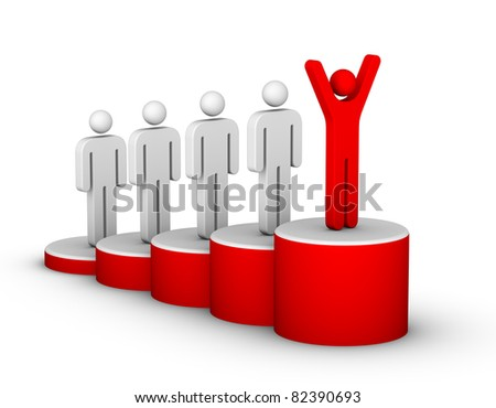 Ladder of Success - stock photo