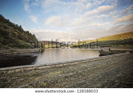 Lady Bower Reservoir - stock photo
