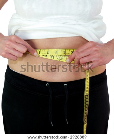 Lady dieter getting back into the twenty inch range - stock photo