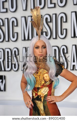 Lady GaGa at the 2010 MTV Video Music Awards at the Nokia Theatre L.A. Live in downtown Los Angeles. September 12, 2010  Los Angeles, CA Picture: Paul Smith / Featureflash - stock photo