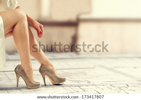 lady in vintage photo  - stock photo