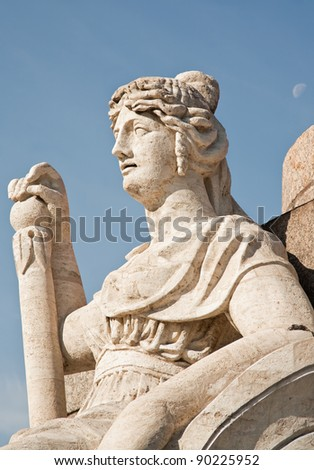 Lady of the Rostral column - stock photo