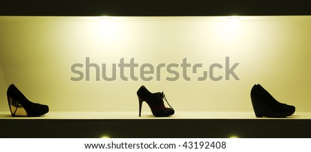 Lady shoes. Element of design. - stock photo