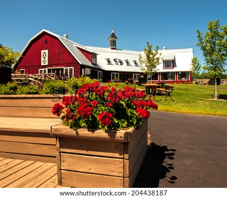 LaFayette, New York, USA- July 11,2014. Beak and Skiff Apple Farms 1911 Tasting Room and Cafe - stock photo