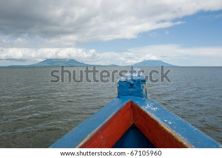 Lago de NIcaragua, Isla de Ometepe. - stock photo
