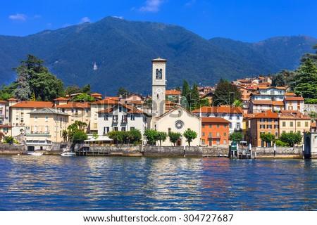 Lago di Como - beautiful Torno village. north of Italy - stock photo