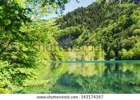 Lago di Tenno - stock photo
