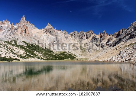 Lago Toncek at Nahuel Huapi National Park, Patagonia, Argentina. - stock photo