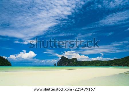 Lagoon Landscape Sunny Beach  - stock photo