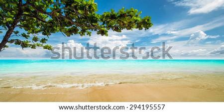 Lagoon. Tropical resort panorama shot - stock photo
