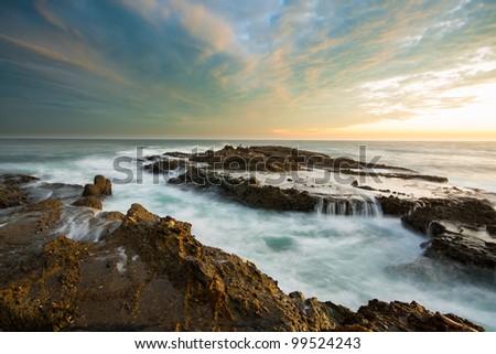 Laguna Beach Seascape - stock photo