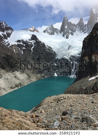 Laguna Sucia and Fitz Roy in Argentina - stock photo