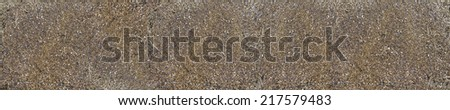 lahte Metal chips for kitchen wall glass panels - stock photo