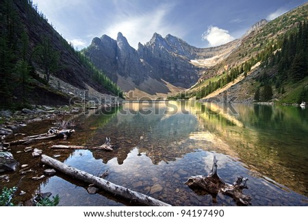 Lake Agnes, Near Lake Louise, Banff National Park, Alberta, Canada - stock photo