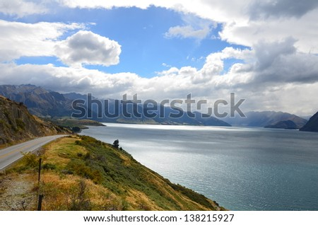lake and cloud - stock photo