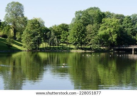 Lake at Norway - stock photo