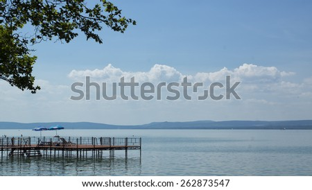 Lake Balaton - stock photo