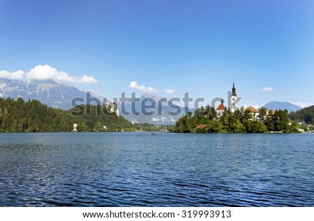 Lake bled ,Slovenia,Europe. - stock photo