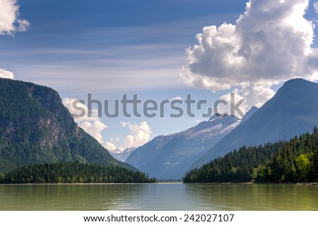 Lake Blue River in Canada - stock photo