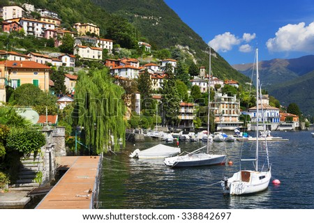 Lake Como in Italy, Europe - stock photo